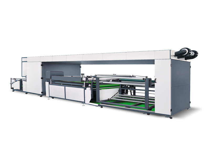 NWF1400 I Automatic Single Color Roll To Roll Non Woven Fabric Screen Printing Machine